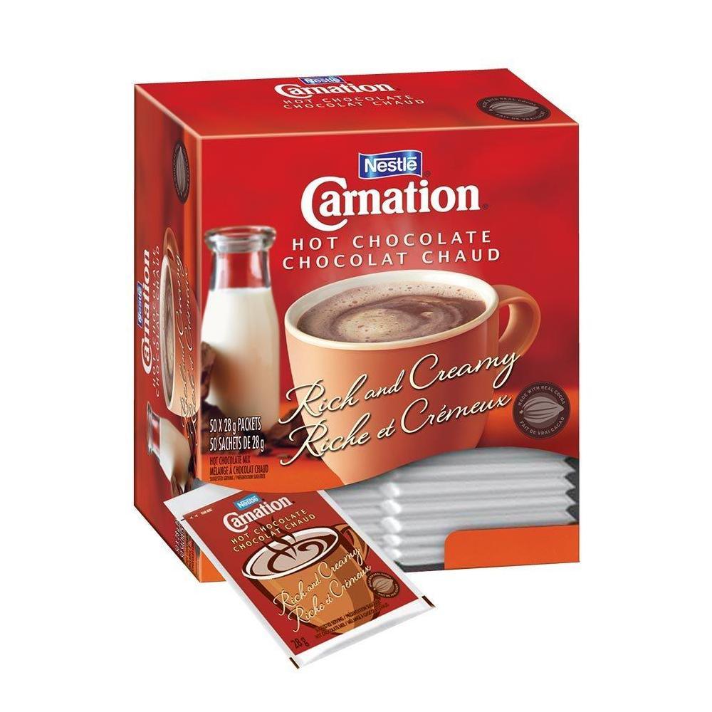 Nestle Carnation Hot Chocolate 50 Packets 1400g 290544