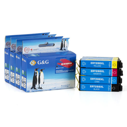 Epson 288 T288XL Remanufactured Ink Cartridge Combo High Yield BK/C/M/Y -  G&G™