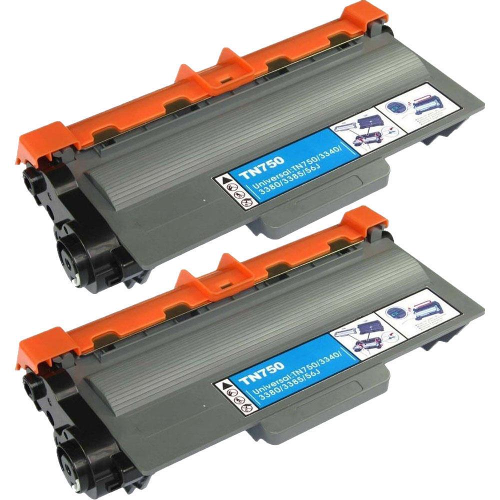2 TN-750 TN750 HY Black Printer Laser Toner Cartridge for Brother HL-5450DN