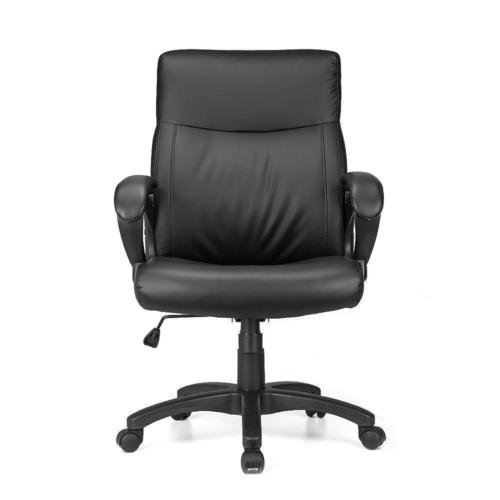 Terrific Bonded Leather Office Chair Black Moustache Chair Creativecarmelina Interior Chair Design Creativecarmelinacom
