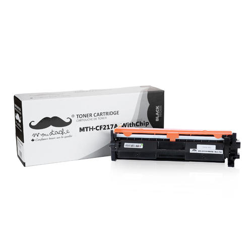 Compatible HP 17A CF217A Black Toner Cartridge - With Chip - Moustache® -  1/Pack