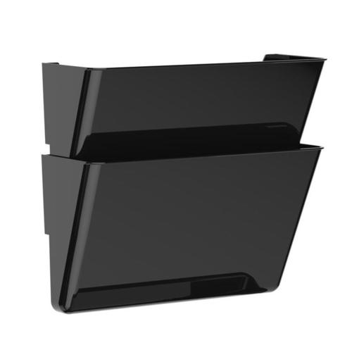 Storex Snap And Stack Wall Pockets Files Black Letter Legal Size