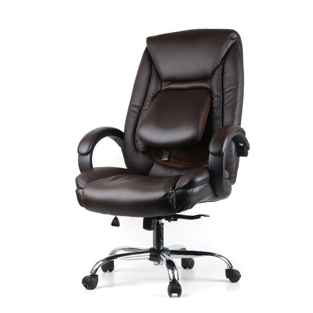 new style e32fb 11a91 Ergonomic Faux-Leather High Back Office Chair with Adjustable Lumbar  Support - Moustache® - Black