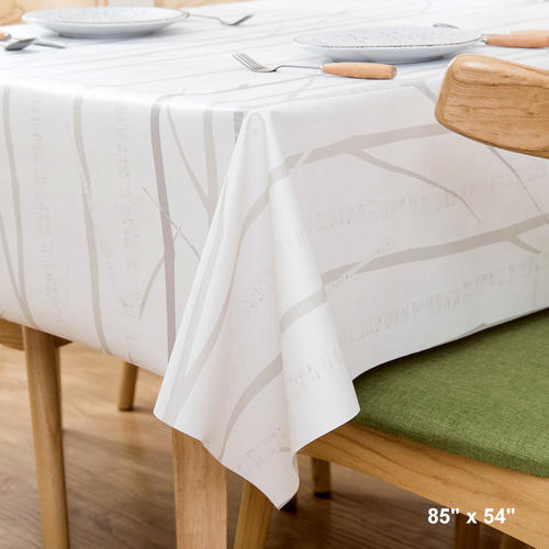 Living.ca & Table Cover Tablecloth Rectangle Vinyl Heavy Weight Oil-proof Waterproof 85\
