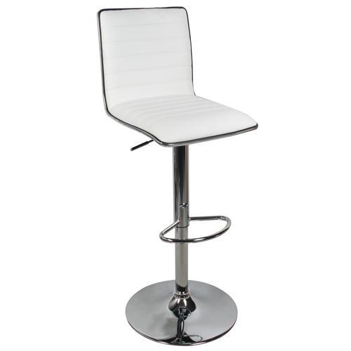 Fine High Back Adjustable Height Swivel Bar Stool Moustache 1 Pack White Machost Co Dining Chair Design Ideas Machostcouk