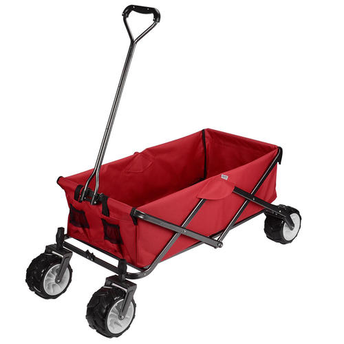 f5782a0bdd74 GreenWise™ Foldable Garden Utility Cart with Solid Rubber Tiers for  All-Terrain, 165Lbs Capacity