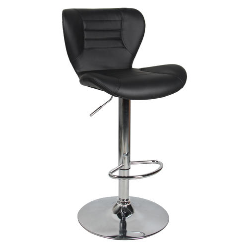 Moustache /® Mordern Swivel Height Adjustable White Faux Leather Bar Stool Pub Chair Set of 2 with Footrest