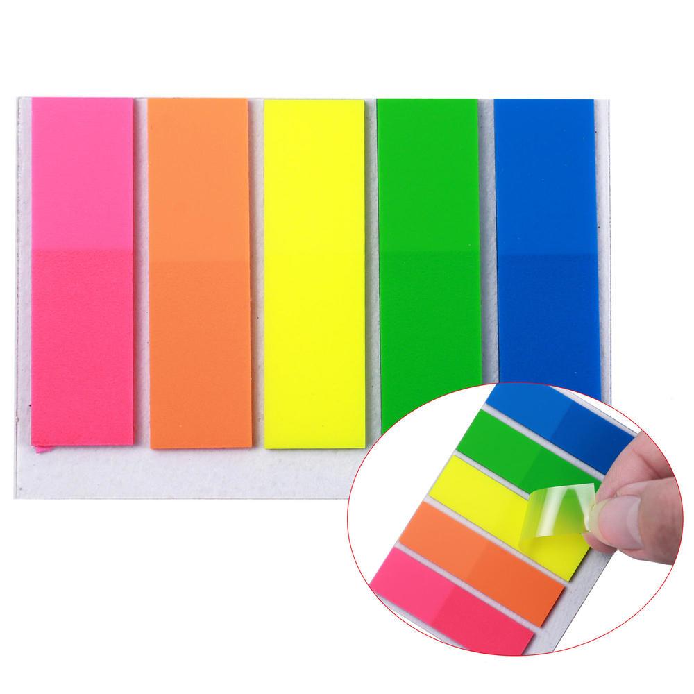 Square Shape Index Tab Flags - Moustache® - 1/Pack, 4 4 x 1 27cm, 5 Colors  x 25 Sheets