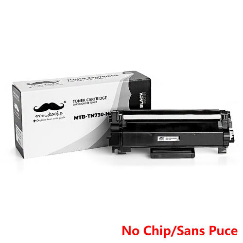 Brother TN730 Compatible Black Toner Cartridge - No Chip - Moustache® -  1/Pack