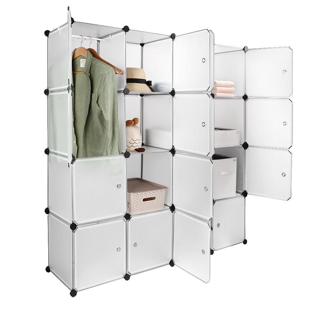 Modular Shelving Storage Organizer Cube Unit Interlocking Wardrobe Cabinet  11-Cube - SortWise™