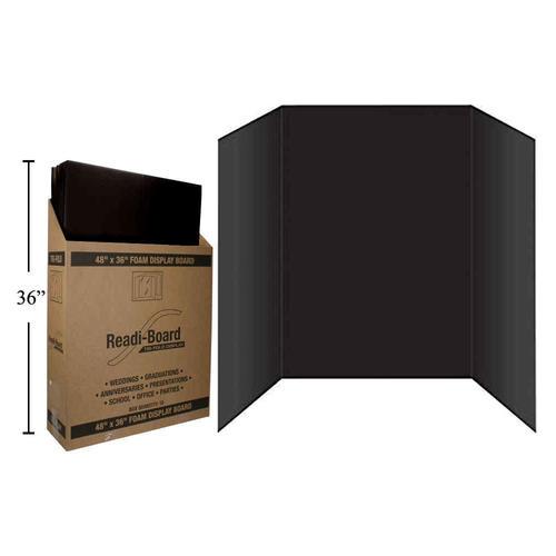 36 X 48 Premium Foam Tri Fold Display Board For School Projects Or Business Presentations Black