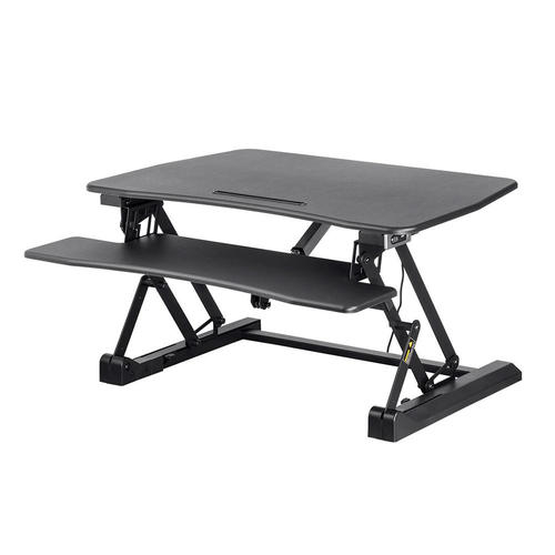 Electric Height Adjustable Sit Stand Workstation Desk Converter 36in Monoprice