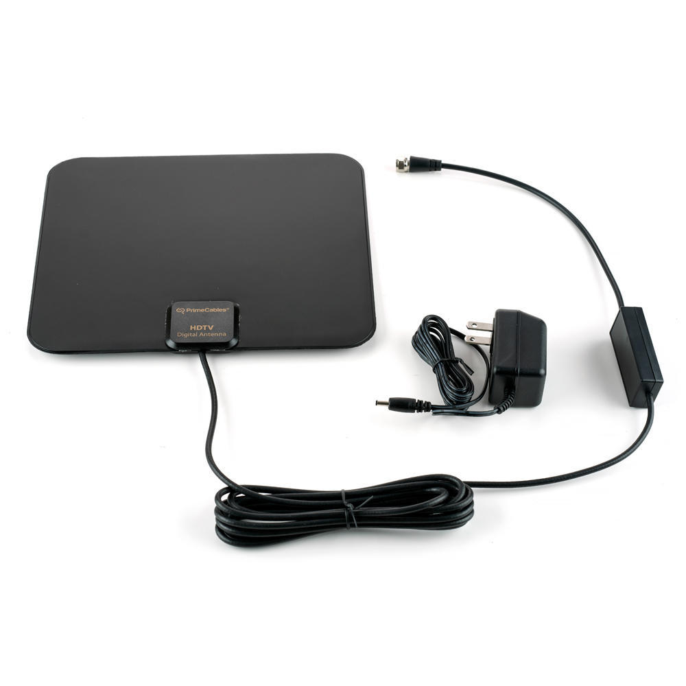 Cable Matters Ultra-Slim Amplified Indoor HDTV Antenna with Stand
