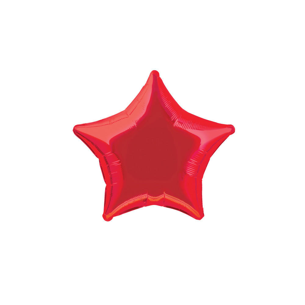 Red Star-Shaped Foil Helium Balloon 50.8cm All Occasions