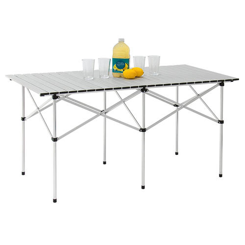 Portable Camping Aluminum Folding Table Extended Version 140cm X 70cm Moustache Table Only