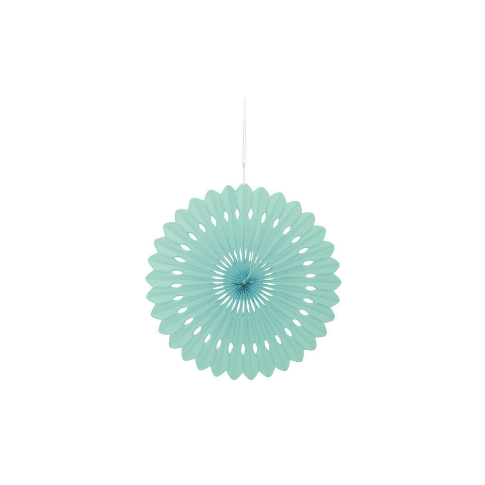 Solid Tissue Paper Fan for Party Decoration 16'' - Mint Green