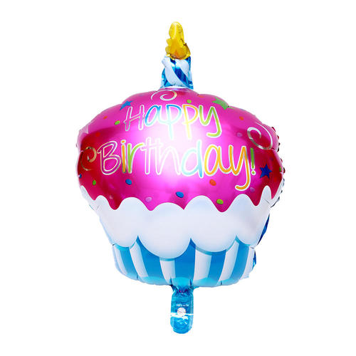 Foil Balloon Candle Cake Mylar Helium Party Decor 27 Pink