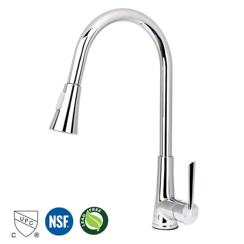 Single Handle Pull Down High Arc Sprayer Kitchen Sink Faucet