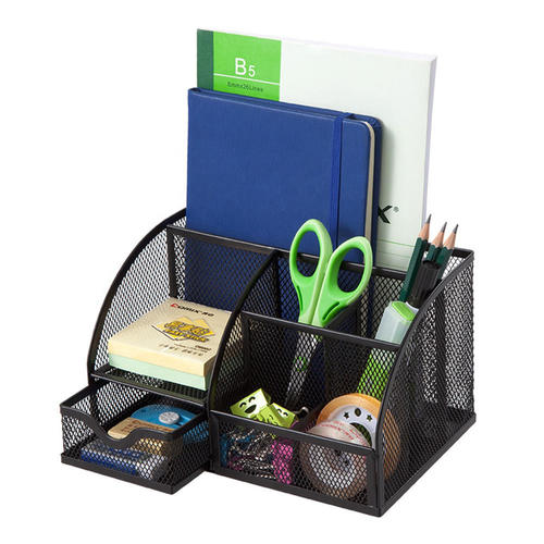 7 Section Metal Mesh Office Desktop Organizer