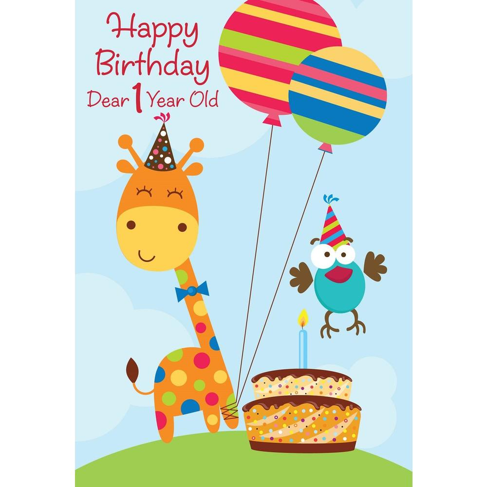 1st Birthday Greeting Card For Boy Or Girl 5 3 8 X 7 4 123InkCartridges 123Inkca Canada