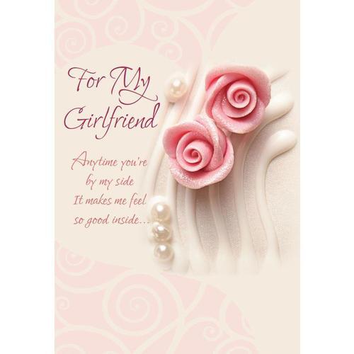 Birthday Greeting Card For Girlfriend 5 3 8 X 7 4