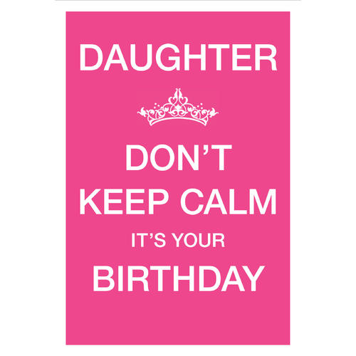 Birthday Greeting Card For Daughter 5 3 8 X 7 4