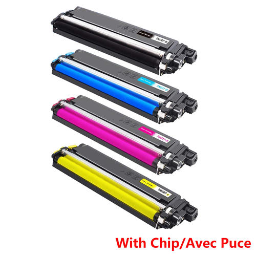 Brother TN227 Compatible Toner Cartridge Combo BK/C/M/Y High Yield Version  of TN223 - With Chip