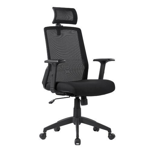 grand choix de 342cb 61f51 Fauteuil de bureau ergonomique en filet avec appuie-tête et accoudoirs  réglables, noir - Moustache®