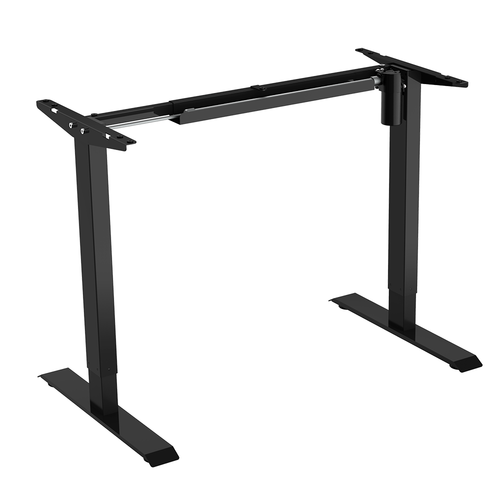 Electric Sit to Stand Adjustable Desk Riser Frame (Table Top Not Included) - Black - PrimeCables®