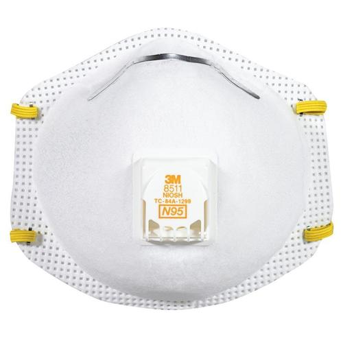 8511 3m Respirator Of N95 With Particulate pack 10 Valve Cool-flow™