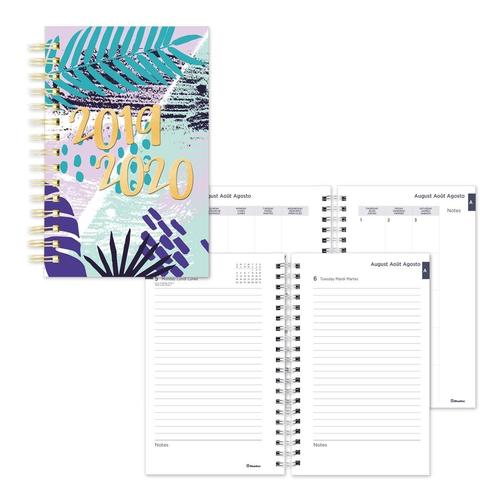 picture relating to Daily Planners referred to as Blueline® Instructional Day by day Planner Tropical (2019-2020), 8 x 5 in just - Pink