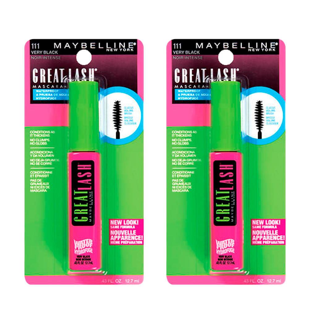 Maybelline New York Waterproof Lash Mascara Black 12 7ml - 2/Pack
