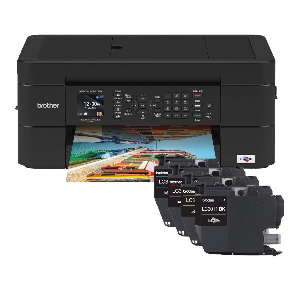 Brother MFC-J491DW Wireless All-in-One Colour Inkjet Printer (Replaces  MFCJ480DW )