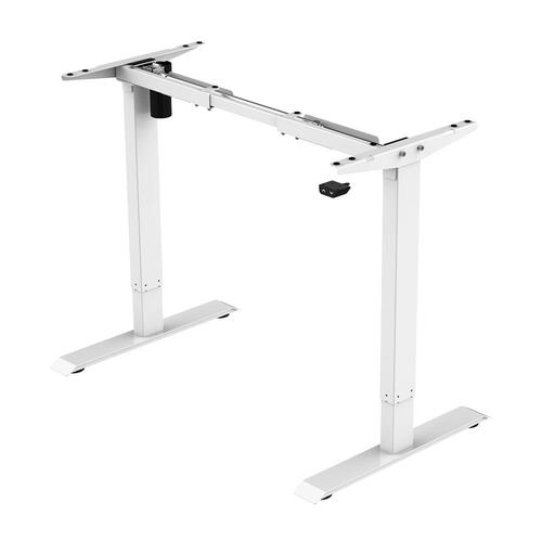 PrimeCables® Electric Sit to Stand Adjustable Desk Riser Frame (Table Top Not Included) - White