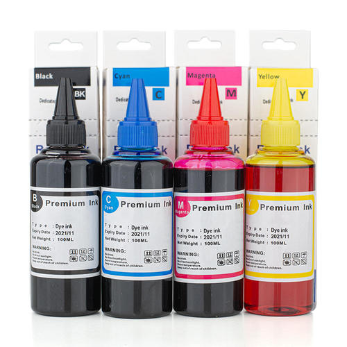 Best Refillable Printer 2021 Universal Dye Refill Ink Combo for HP Printer Cartridges BK/C/M/Y