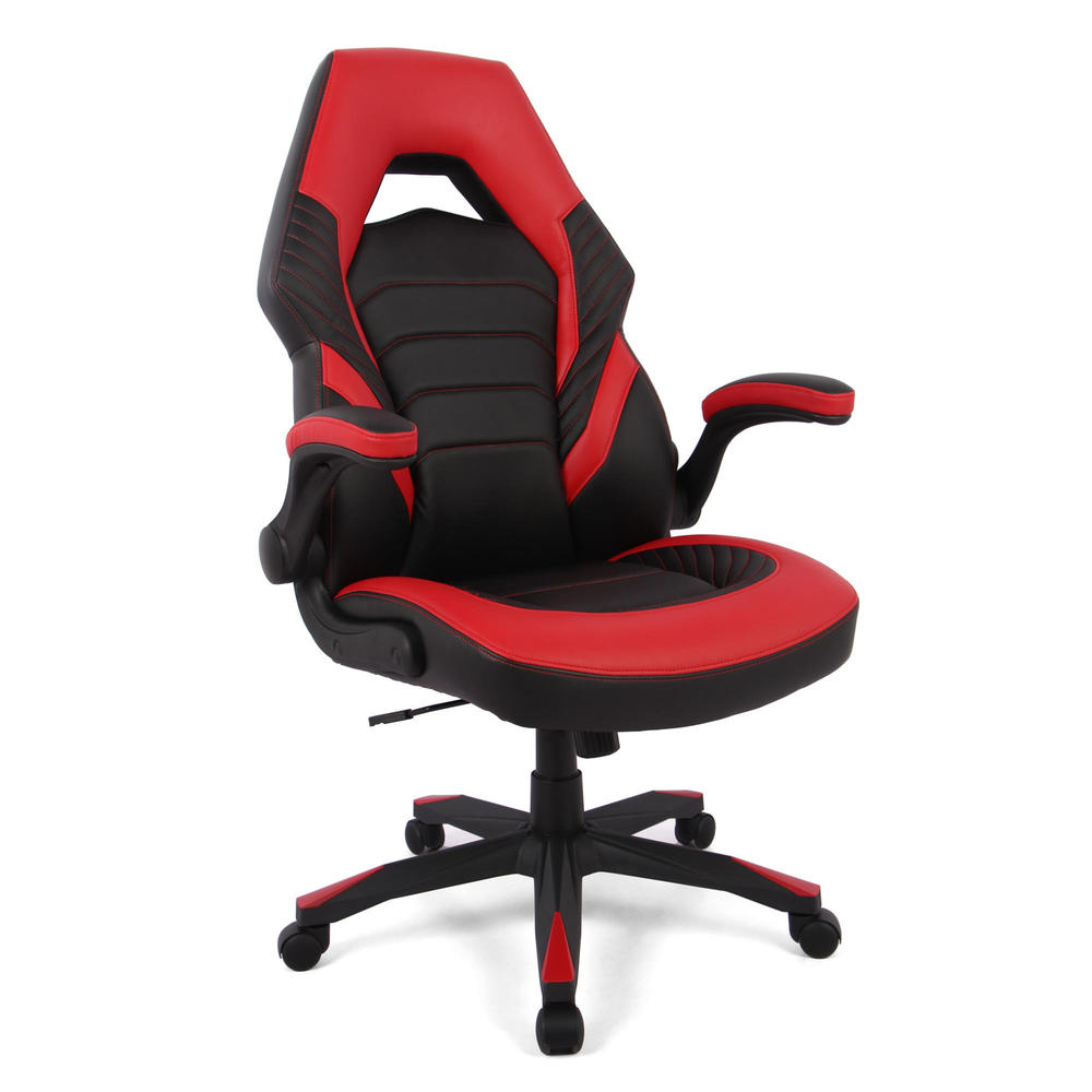 Racing Gaming Chair Computer Chair With Flip Up Arms Moustache