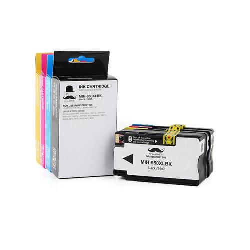 Moustache Compatible HP 950XL HP 951XL Ink Cartridge Combo High Yield BK/C/M/Y