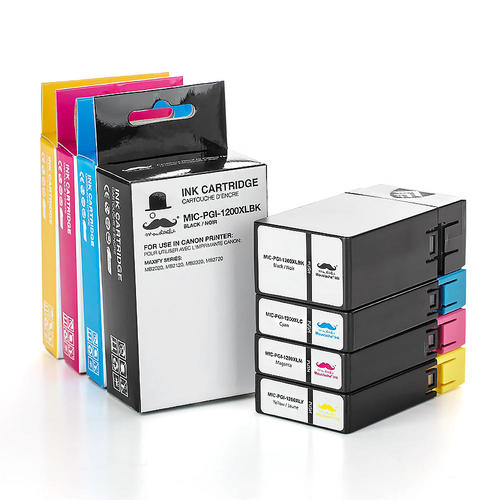 Moustache Canon PGI-1200XL Compatible Ink Cartridge Combo High Yield BK/C/M/Y