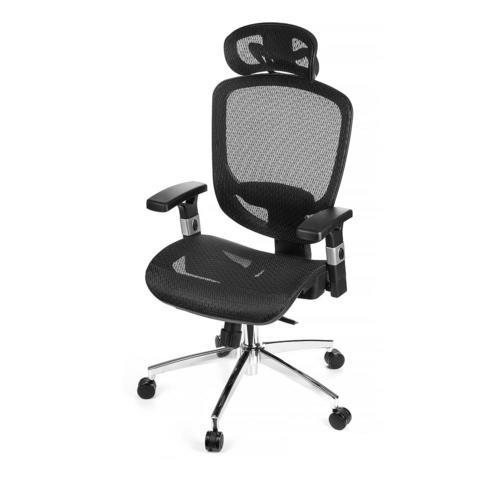 Moustache Ergonomic Office Chair with Suspension Mesh Seat - Black