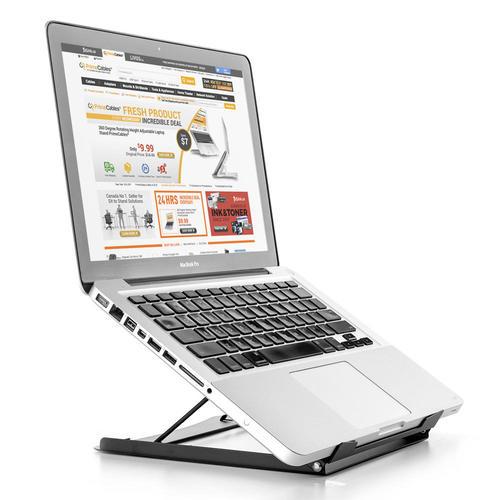 PrimeCables Height Adjustable Laptop/Tablet Stand Portable Ergonomics