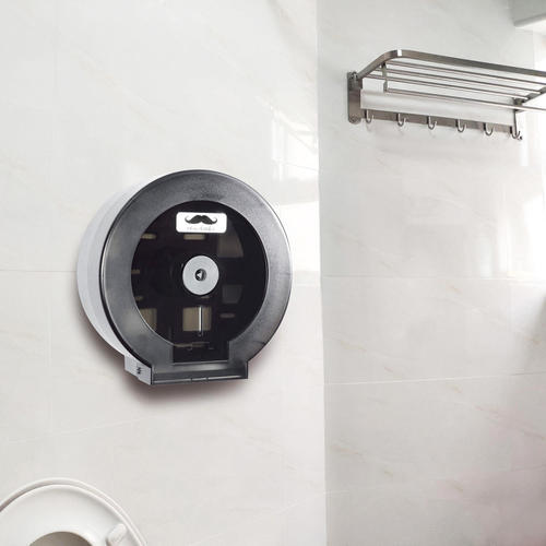 Toilet Paper Plastic Dispenser Wall Mounted Moustache 174