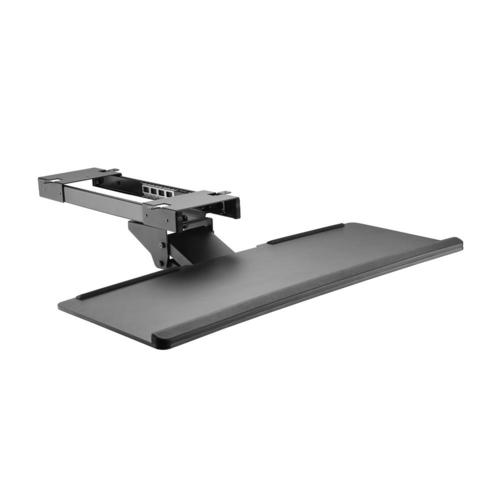 PrimeCables Adjustable Computer Keyboard & Mouse Platform Tray Deluxe Under Table Desk Mount